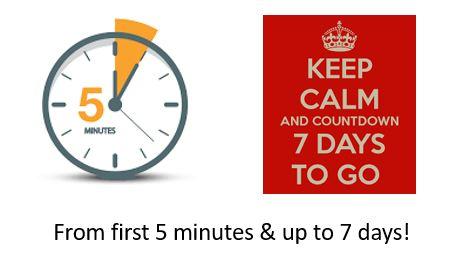 5 min to 7 days